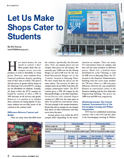Let Us Make Shops Cater to Students